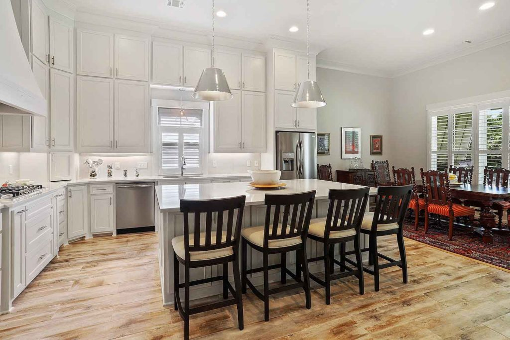 Kitchen in a Custom Home built by Dupree Construction