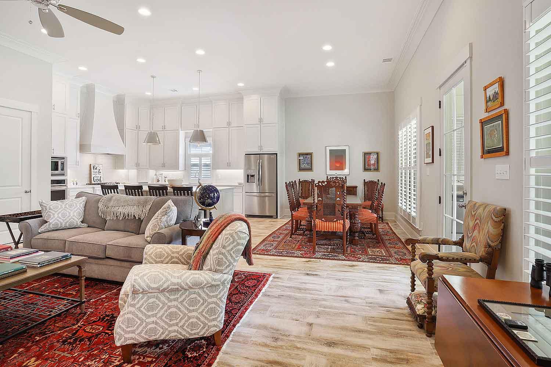 Custom Home Construction - Living Room
