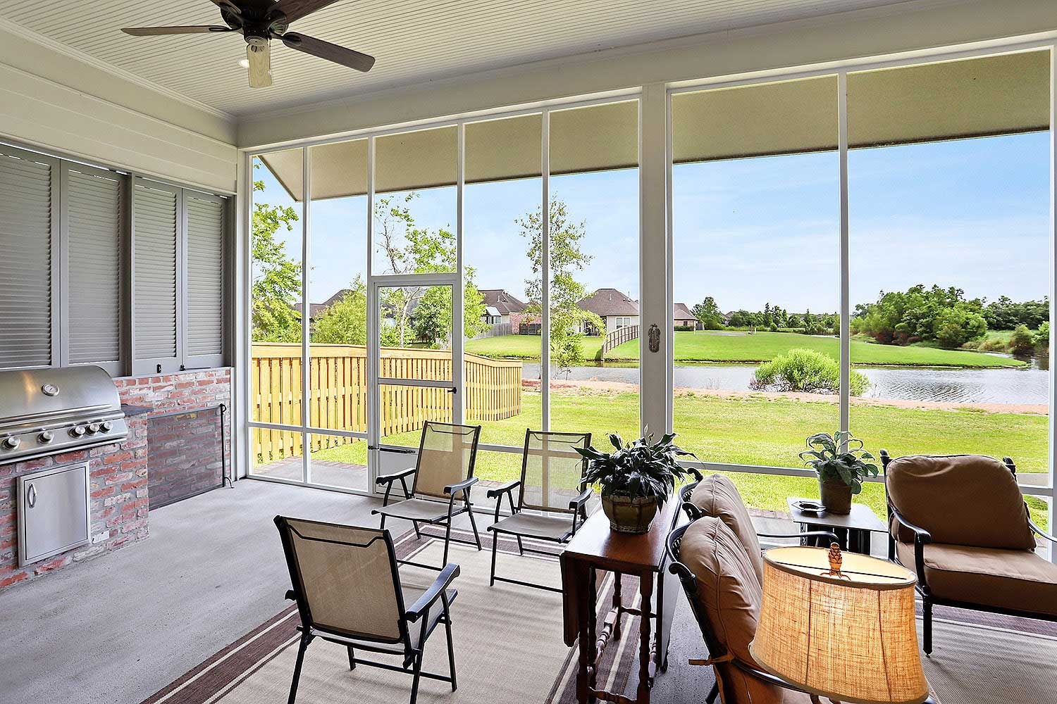 Lot 248 Harveston - Screened Patio Room View to Lake